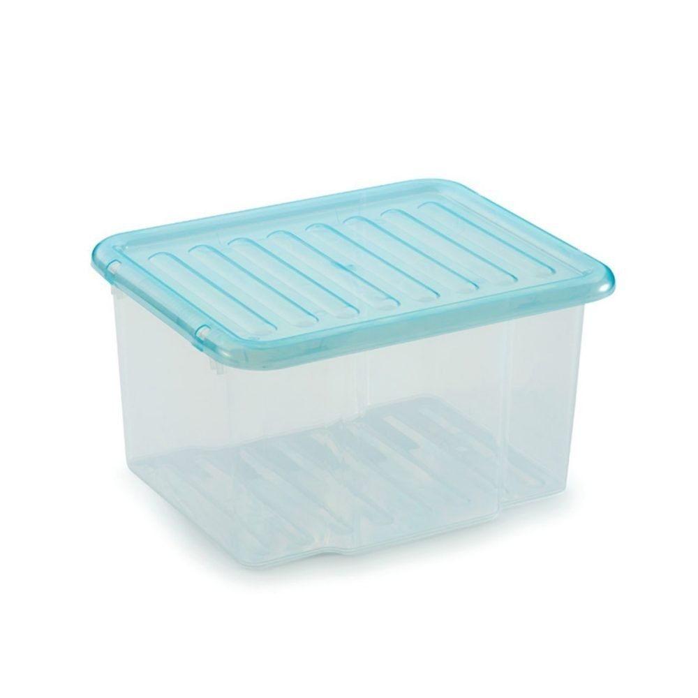 plastikbox mit deckel free wham truhe deckel l blaugrn. Black Bedroom Furniture Sets. Home Design Ideas