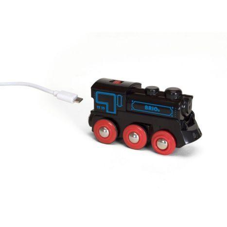 Schwarze Akku-Lok mit Mini-USB  GVE 1
