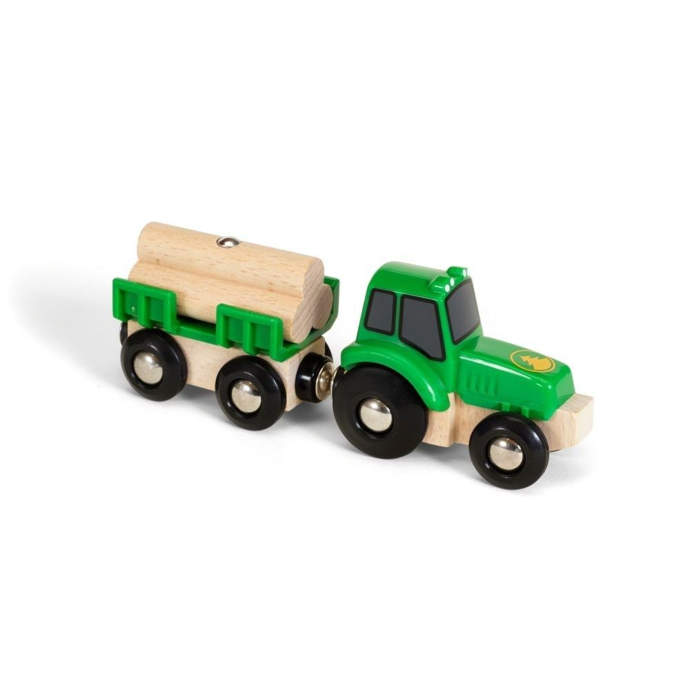 brio traktor mit holz anh nger spielzeug f r kleinkinder baby kleinkind spielware baby. Black Bedroom Furniture Sets. Home Design Ideas