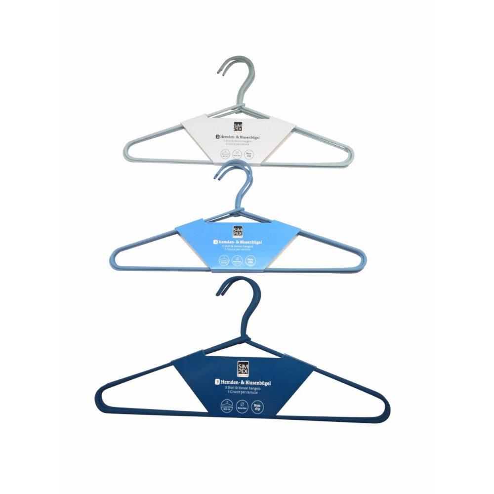 SIMPEX  Textil-buegel blau 3er  GVE 6