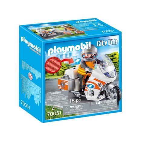 Playmobil City Life Notarzt Motorrad mit Blinklich 70051