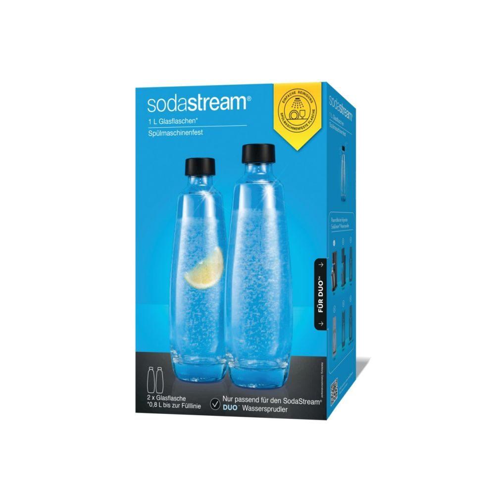 SodaStr.Glasflasche DUO 2er 1L  GVE 3