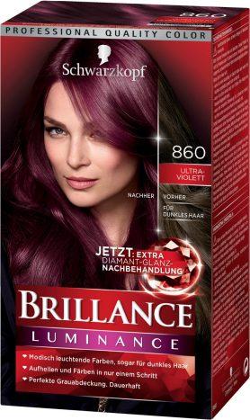 Rot haarfarbe lila Haarfarbe Lila