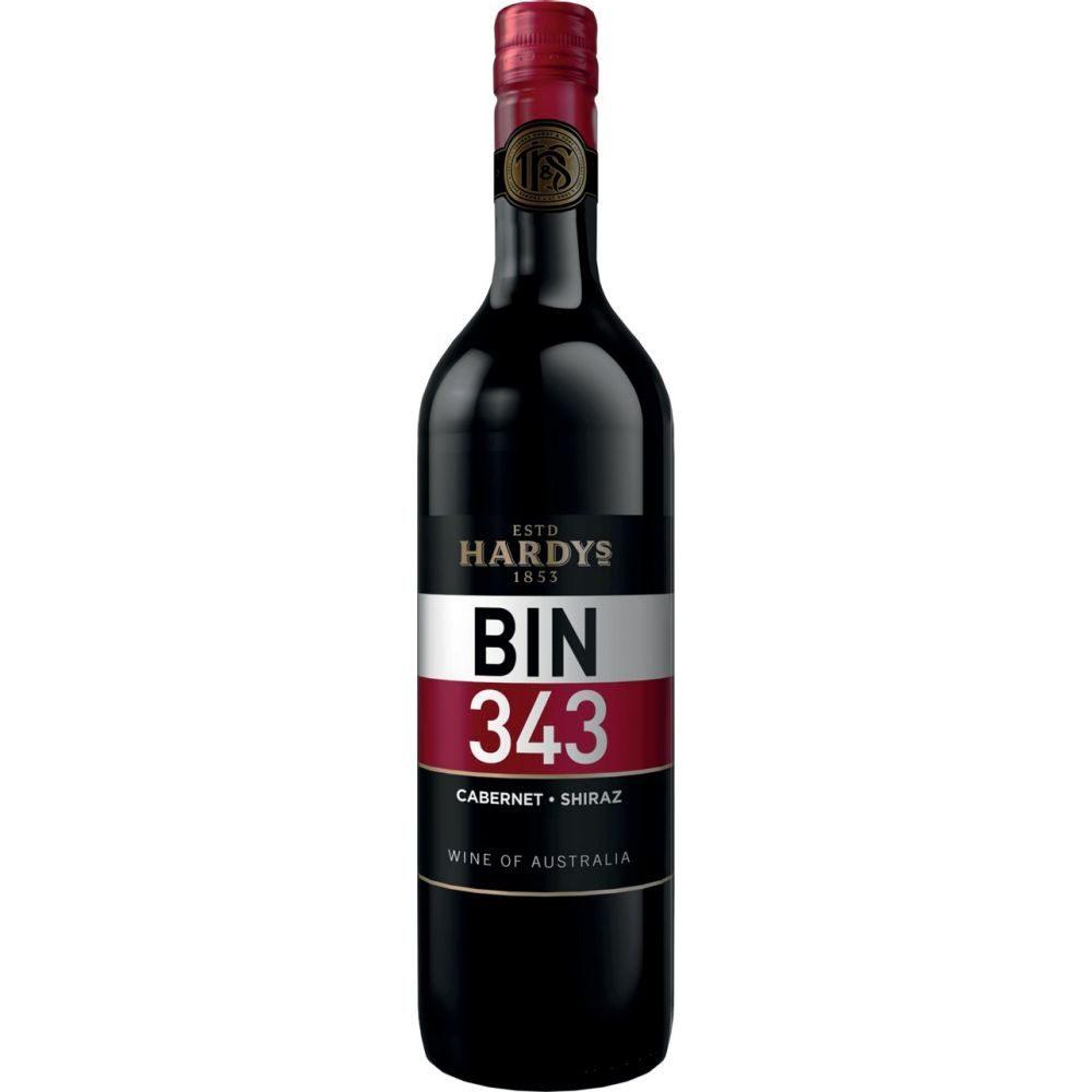 Hardy BIN 343  Cab/Shiraz 075l  GVE 6